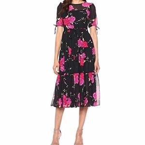 Betsy Johnson Vintage Floral Midi Dress